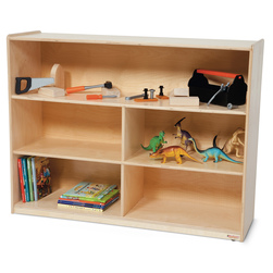 Healthy Kids™ Colors Versatile Storage Shelf Unit - Natural, 38 in. H