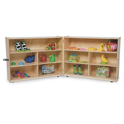 Healthy Kids™ Colors Folding Versatile Storage Unit - Natural, 38 in. H