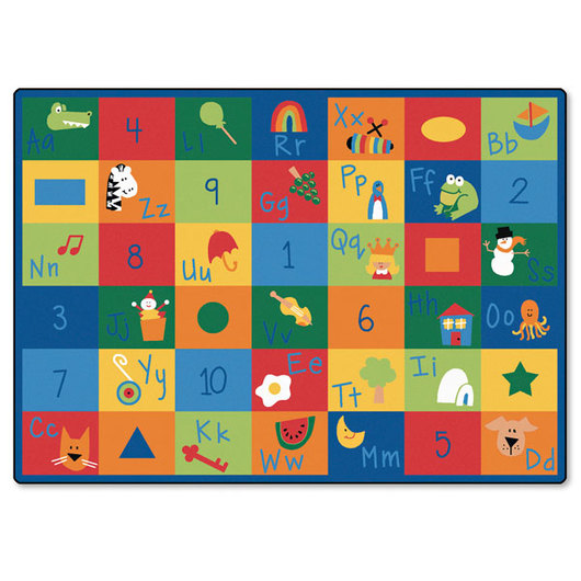 Learning Blocks Carpet - Rectangle - 8 ft. 4 x 11 ft. 8