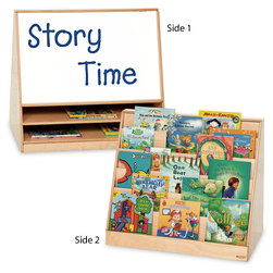 Book Storage and Display with Dry-Erase Board