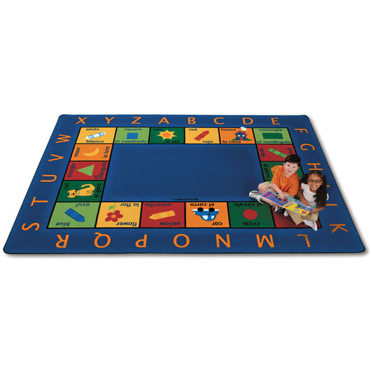 Bilingual Circletime Carpet - Rectangle - 5 ft. 10 in. x 8 ft. 4 in.