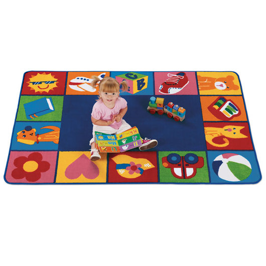 Toddler Blocks Rug - Rectangle, 6 ft. x 9 ft.