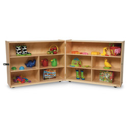 Contender Mobile Folding Divided Storage Shelf Unit