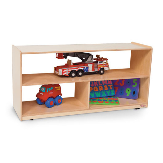 Wood Designs™ NaturalEnvironments Mobile Shelf Storage Unit with Acrylic Back - 23-1/2 in. H