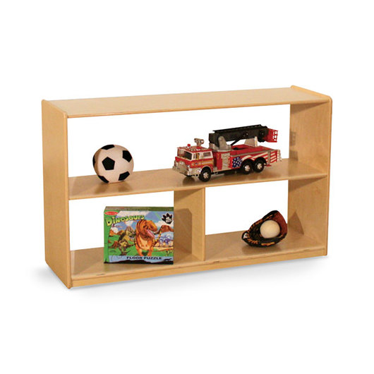 Wood Designs™ NaturalEnvironments Mobile Shelf Storage Unit with Acrylic Back - 30 in. H