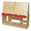 Wood Designs™ Art Center for Four With Red Trays