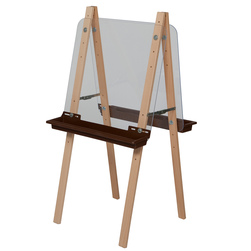 Wood Designs™ Double Adjustable Easel with Acrylic Panels - Red Trays