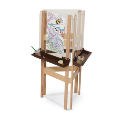 Wood Designs™ 3-Way Easel with Acrylic Panels - Brown Trays