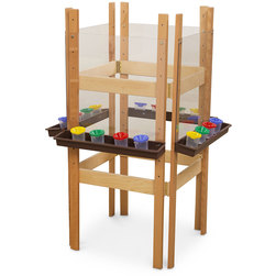 Wood Designs™ 4-Sided Easel with Acrylic Panels - With Red Trays