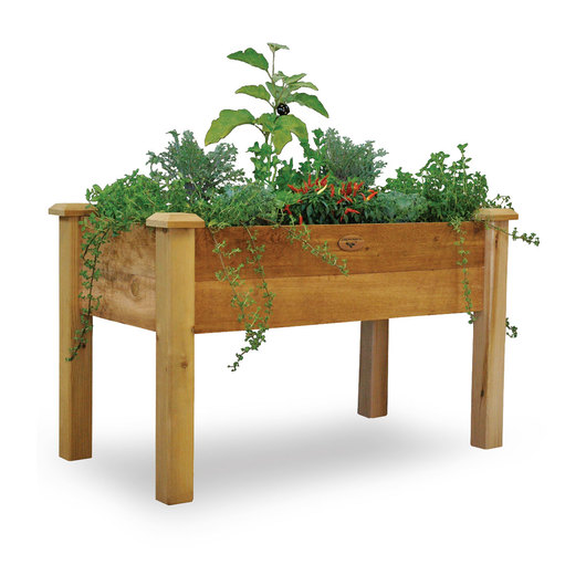 Gronomics® Elevated Garden Bed, Rustic, Unfinished - 24 in. W x 48 in. L x 30 in. H