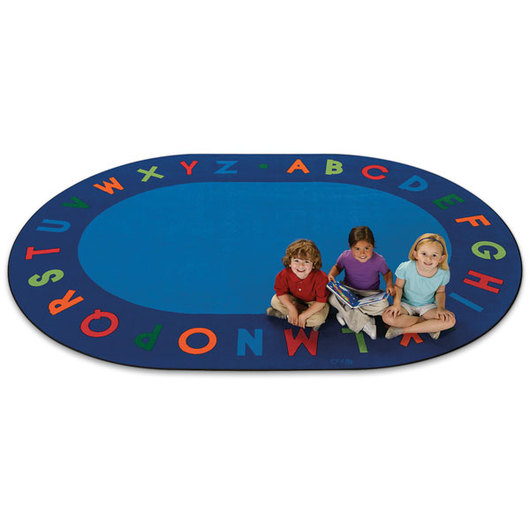 Bright Alphabet Circletime Rug - Oval, 6 ft. x 9 ft.