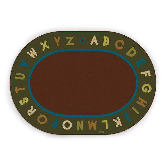 Natural Alphabet Circletime Rug - Oval - 6 ft. x 9 ft.