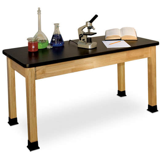 Allied Hardwood Chemsurf™ - Topped Science Table with Adjustable Glides, 42 x 60