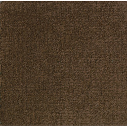 Mt. Shasta Solid-Color Carpet - Cocoa, 8 ft. 4 in. x 12 ft.