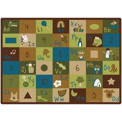 Natures Colors Learning Blocks Carpet - Rectangle