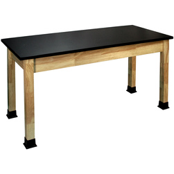 Allied Hardwood Epoxy Topped Science Table with Adjustable Glides