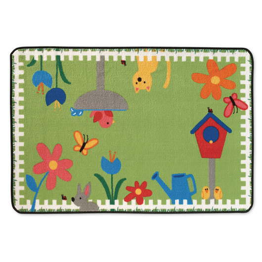 Kids Value Rugs™ - 3 ft. x 4 ft. 6 in. - Garden Time