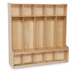5-Section Seat Locker - 48 in. Natural