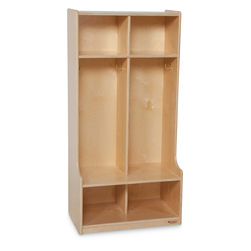 2-Section Seat Locker - 24 in. Natural