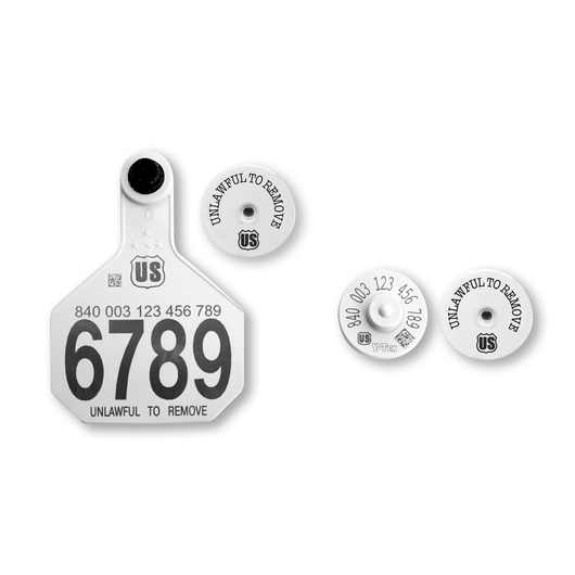 Y-TEX® 840 HDX Official RFID Button and Panel Tag Matched Set