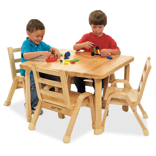 Angeles® NaturalWood® Preschool Collection - Square Table - 30 in. x 30 in. x 18 in. H