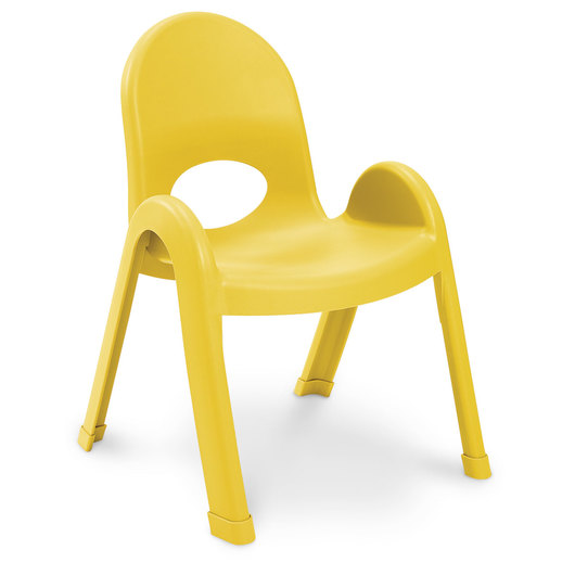 Angeles® Value Stack™ Chair - 11 in. H - Canary Yellow
