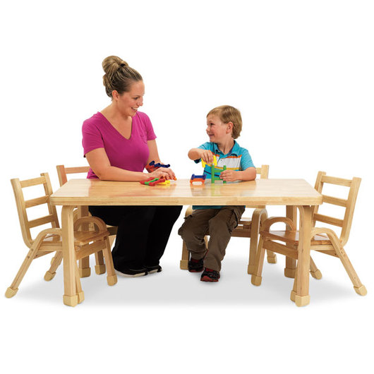 Angeles® NaturalWood® Preschool Collection - Rectangle Table - 30 in. x 48 in. x 22 in. H