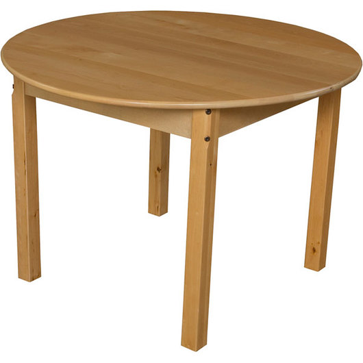 36 in. Round Wooden Table with 22 in. H Legs