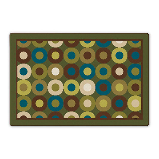 Carpets for Kids® Nature's Colors Calming Circles Rug - Rectangle - 8 ft. x 12 ft.