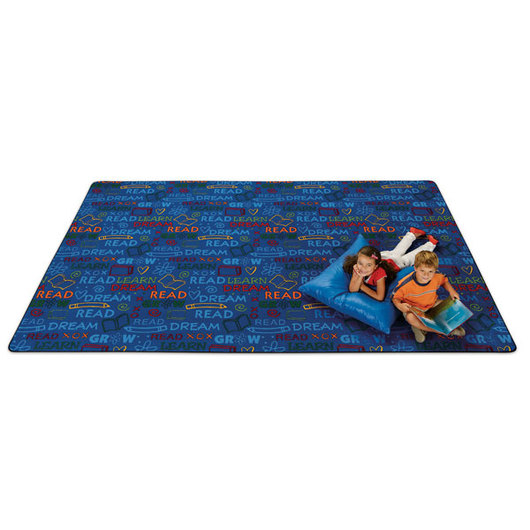 Carpets for Kids® Read to Dream Pattern Rug - Bright - 4 ft. x 6 ft.