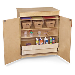 Wood Designs Mobile Storage Cabinet