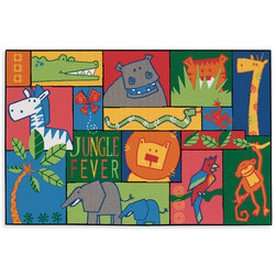 Kids Value Rugs™ 3 ft. x 4 ft. 6 in., Jungle Fever
