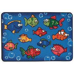 Kids Value Rugs™ 3 ft. x 4 ft. 6 in., Something Fishy