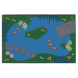 Kids Value Rugs™ 3 ft. x 4 ft. 6 in., Tranquil Pond