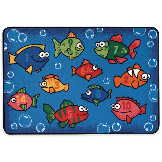 Kids Value Rugs™ 4 ft. x 6 ft. - Something Fishy