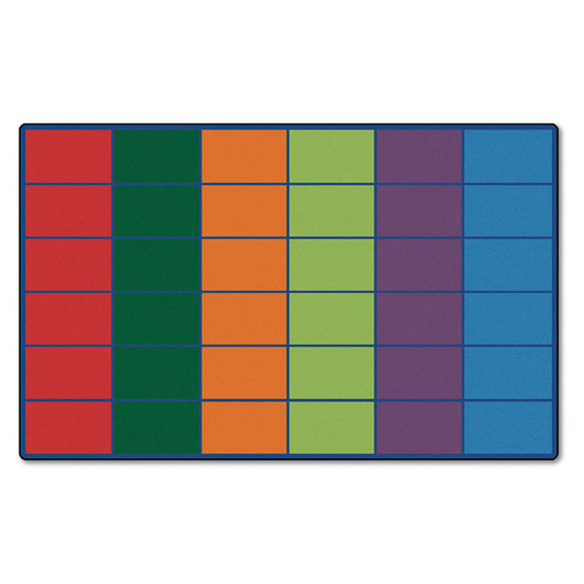 Colorful Rows Seating Rug for 36 Students - 8 ft. 4 in. x 13 ft. 4 in..