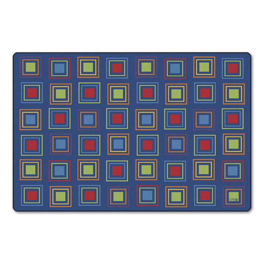 Squares Seating Rug - Primary Colors, 4 ft. x 6 ft.