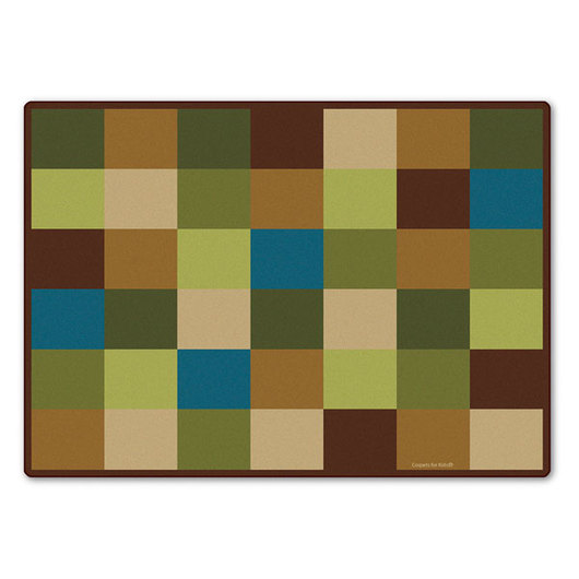 Natural Block Seating Rug - 5 ft. 10 x 8 ft. 4