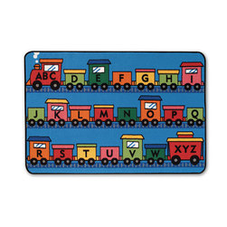 Kids Value Rugs™ 6 ft. x 9 ft., Alpha Fun Train