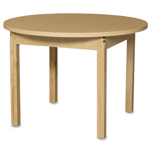Wood Designs™ High-Pressure Laminate Table - Round - 36 in. dia. x 25 in. H