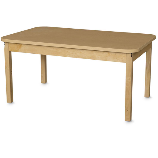 Wood Designs™ High-Pressure Laminate Table - Rectangle - 30 in. W x 48 in. D x 19 in. H