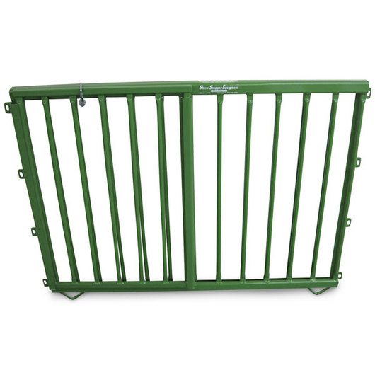 Aluminum Pen Double-Lift Divider Gate - Green