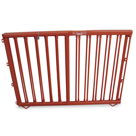 Aluminum Pen Double-Lift Divider Gate - Orange