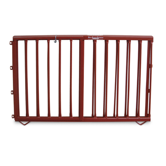Aluminum Pen Double-Lift Divider Gate - Red
