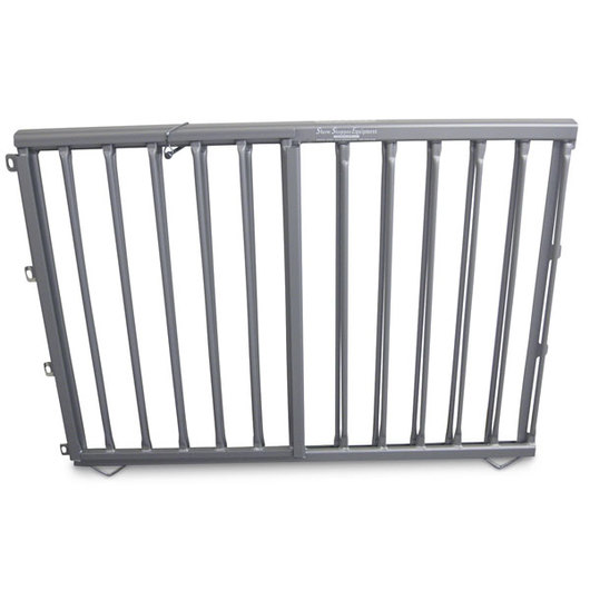 Aluminum Pen Double-Lift Divider Gate - Silver