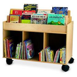 Whitney Brothers Mobile Book Storage Island