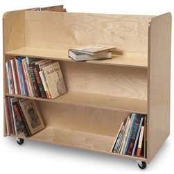 Whitney Brothers TwoSided Mobile Library Cart