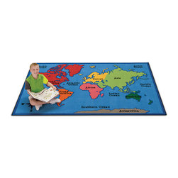 Kids Value Rugs™ - 6 ft. x 9 ft. - World Map