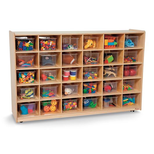 Wood Designs™ 30-Tray Storage Unit with Clear Trays