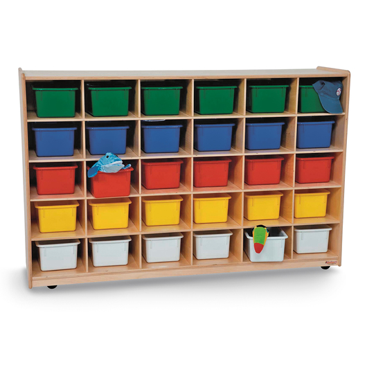 Wood Designs™ 30-Tray Storage Unit with Assorted Trays